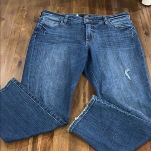 KUT Reese jeans. Barely worn! Sz 8
